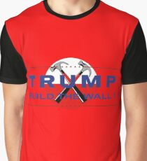 Trump & Pink - Build The Wall! Graphic T-Shirt