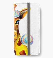 Bubbles and A Giraffe iPhone Wallet/Case/Skin