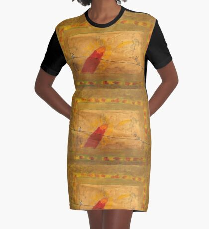 Before The Hour of Lights Graphic T-Shirt Dress