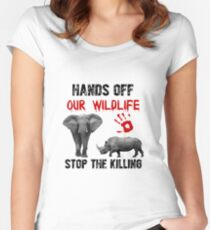 Hands Off Our Wildlife Women's Fitted Scoop T-Shirt