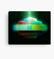 fountain by Yaacov Agam at Dizengoff square.  Canvas Print