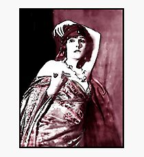 Norma in Shadowy Gown Photographic Print