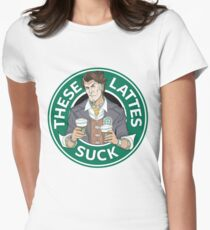 These Lattes Suck Women's Fitted T-Shirt