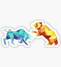 Bull vs Bear Sticker