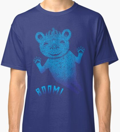 Blue Berlin Bear Goes Boom Classic T-Shirt