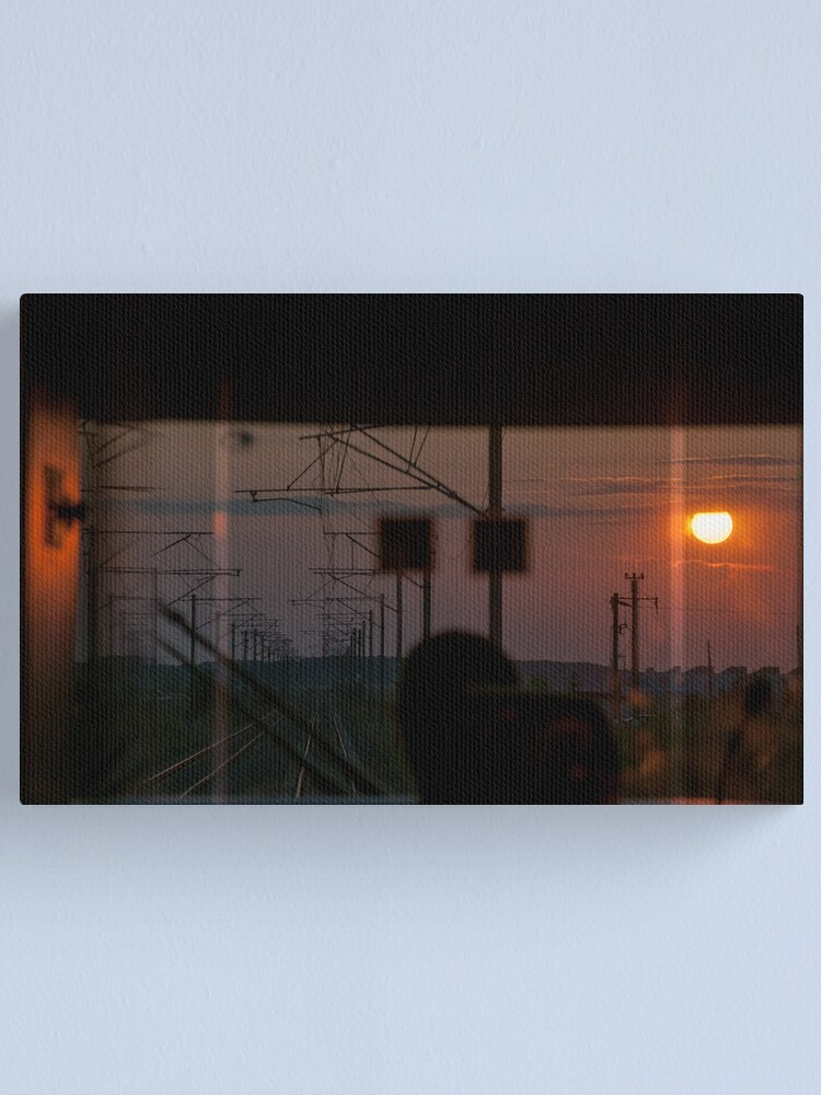 Alternate view of there a light up ahead Canvas Print