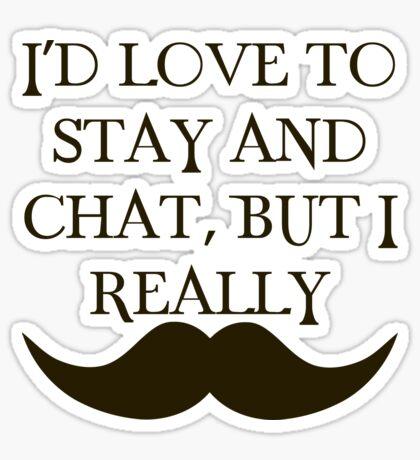 I Mustache Sticker