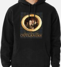 Jamie & Claire on Fraser plaid Pullover Hoodie