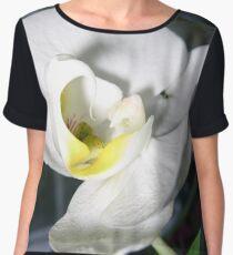 White Ochid - flower beauty design Chiffon Top
