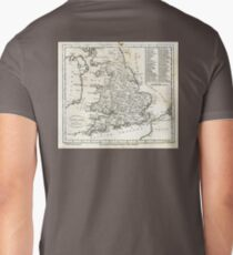 c1810 Map of England And Wales T-Shirt