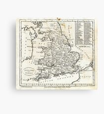 c1810 Map of England And Wales Canvas Print