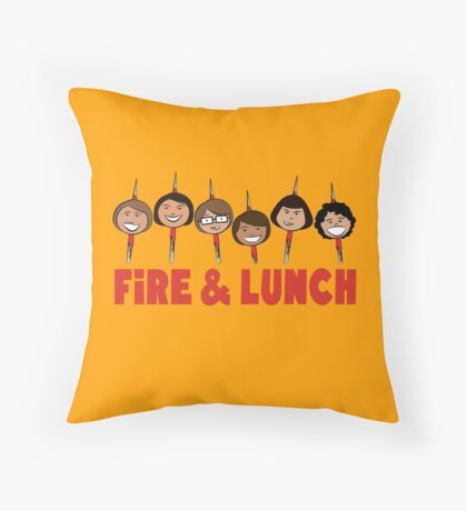 Fire and Lunch Throw Pillow