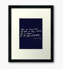 Aldous Huxley, Doors of Perception Framed Print