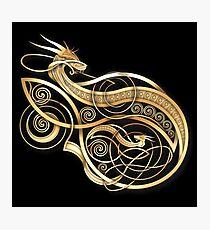 Lámina fotográfica Oro Dragón nórdico