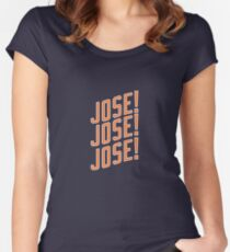 Jose Reyes #7 - New York Mets Women's Fitted Scoop T-Shirt