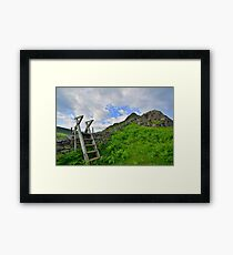 The Lake District: Yewbarrow - A Fell With 'Stile' Framed Print