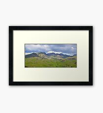 The Lake District: Scafell Range Framed Print