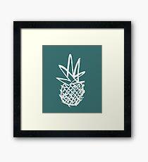 White pineapple  Framed Print