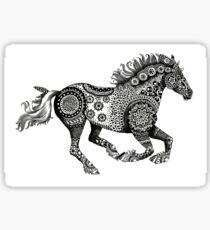 Tribal Running Horse Sticker