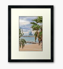 Barceloneta beach. Framed Print