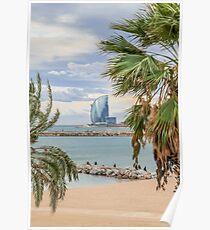 Barceloneta beach. Poster