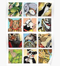 Animal Musicians Montage Poster