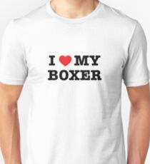 I Herz mein Boxer Slim Fit T-Shirt