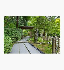 Path at Japanese Garden Photographic Print