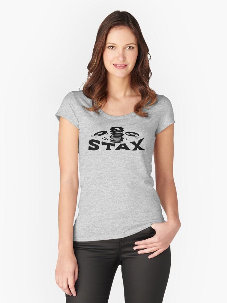 Stax Records Women's Fitted Scoop T-Shirt Front