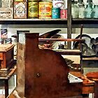 Wooden Cash Register in General Store by Susan Savad