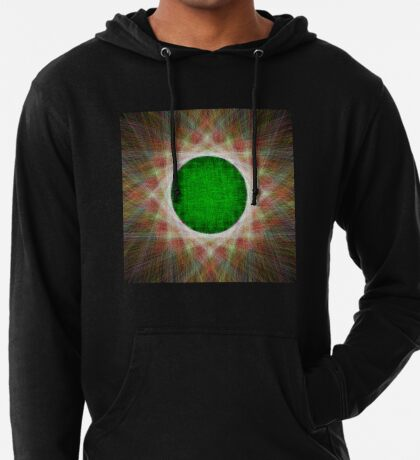 Green Button Planet Lightweight Hoodie