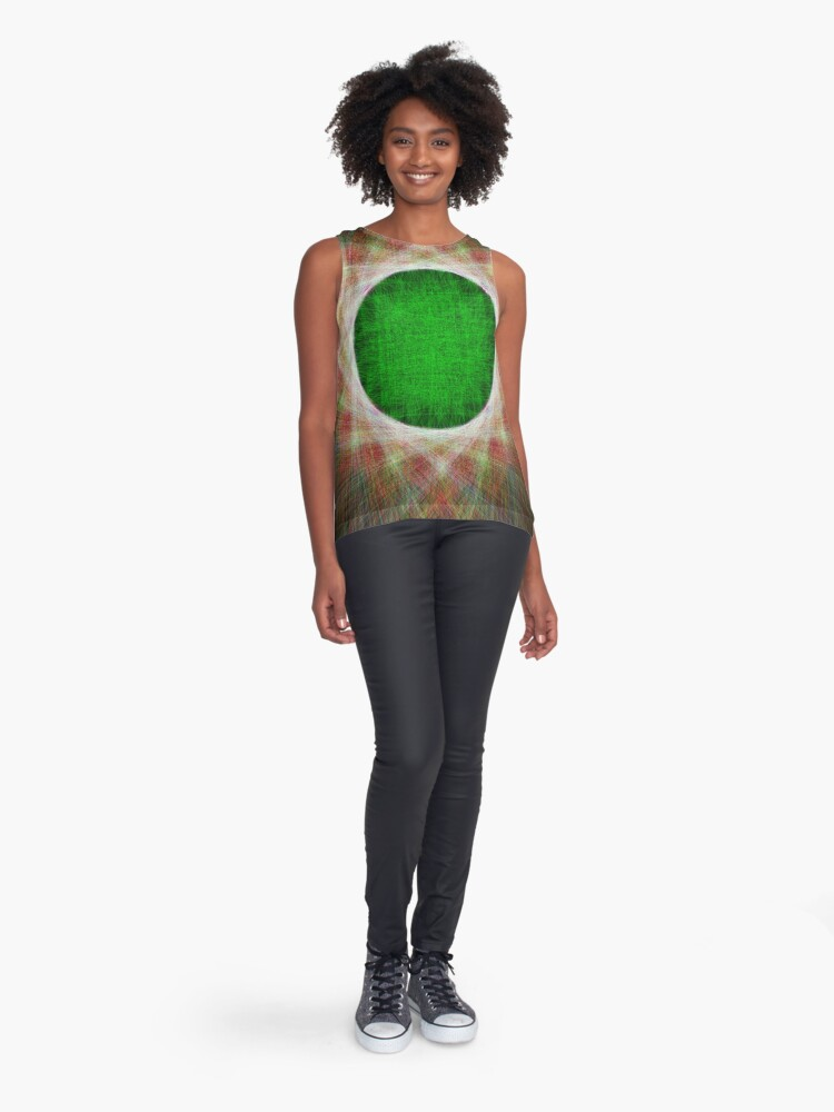 Alternate view of Green Button Planet Sleeveless Top