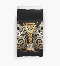 Norse Valknut Dragons  Duvet Cover