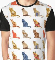 Food Cats Graphic T-Shirt