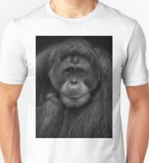 Male Orangutan Black and White Portrait T-Shirt