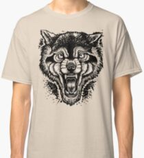 Neotraditional Inked Wolf Classic T-Shirt