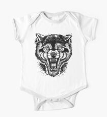 Neotraditional Inked Wolf One Piece - Short Sleeve