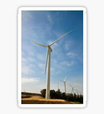 Wind turbines create clean and renewable electricity  Sticker
