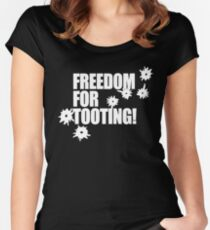 Freedom for Tooting! Women's Fitted Scoop T-Shirt