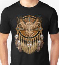 Native American Beadwork Owl Mandala Unisex T-Shirt
