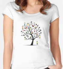 Yoga practice, tree concept Women's Fitted Scoop T-Shirt