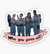 Who you gonna call?- banner Sticker