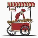 Pitchman with cart of food by Kudryashka
