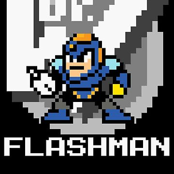 Flashman with text (White) by Funkymunkey