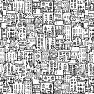 City sketch, seamless background by Kudryashka