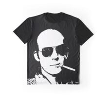 Hunter S Thompson - Smoking Graphic T-Shirt