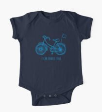 Hipster bicycle - blue One Piece - Short Sleeve