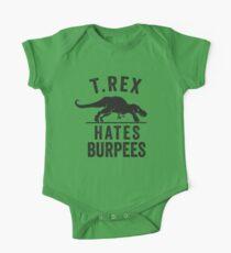 T Rex Hates Burpees One Piece - Short Sleeve