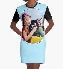 TV Testcard Graphic T-Shirt Dress