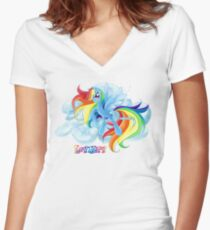 Equestria Elements - The Loyalty Women's Fitted V-Neck T-Shirt